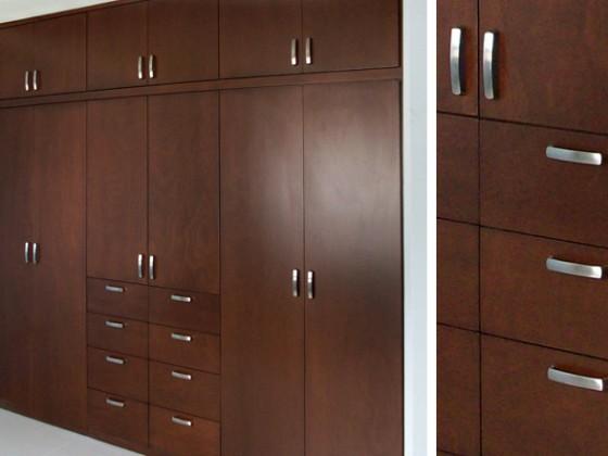 Closets modernos closets en madera closets en bogot for Closet en madera para habitaciones