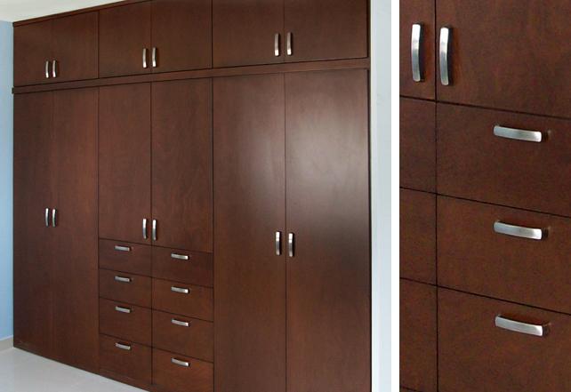 Closets de madera closets modernos bogot closets madera for Disenos de puertas de madera para closets