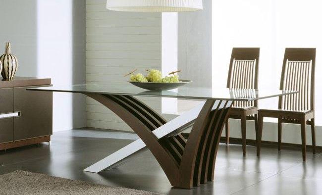 Comedores modernos comedores en madera comedores for Mesas de vidrio modernas para comedor