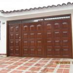 Puertas garaje en madera