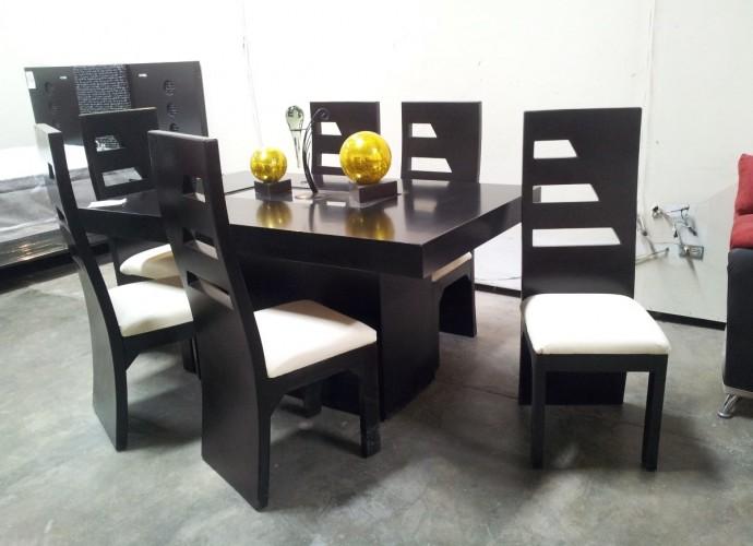 Comedores modernos comedores en madera comedores for Muebles modernos sillas