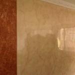 Estuco Veneciano Marmolizado + Columna en Barroco (Textura Rústica)